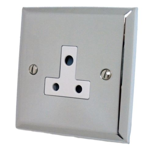 G&H SC59W Spectrum Plate Polished Chrome 1 Gang Single 5 Amp Plug Socket